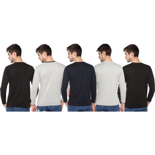 Shaun Striped Men Round Neck Multicolor T-Shirt