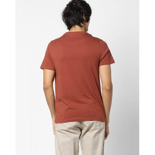 AJIO Numerical Print Crew-Neck T-shirt