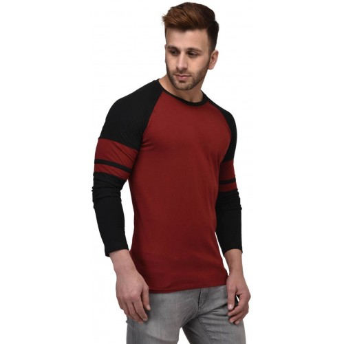 Kay Dee Solid Men's Round Neck Multicolor T-Shirt