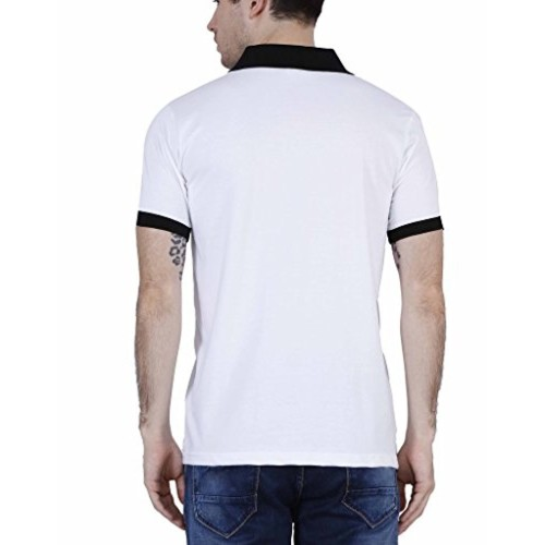 09cca9b5d85 ... Fleximaa Men s Cotton Polo Collar T-Shirts With Pocket Attractive  Opposite Color Collar   Cuff ...