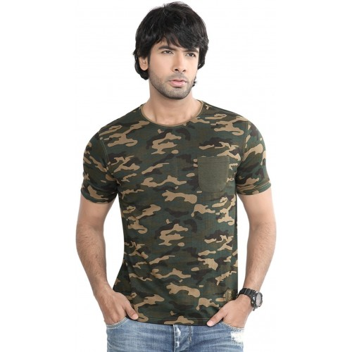 ... DIFFERENCE OF OPINION Military Camouflage Men s Round Neck Green T-Shirt  ... 9c94ccb4b7e