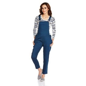People Women's Blue Cotton Dungree