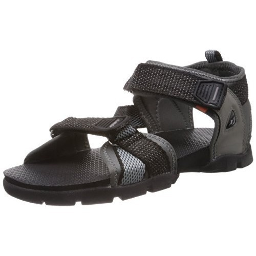 Sparx Black Synthetic Athletic and Outdoor Sandals