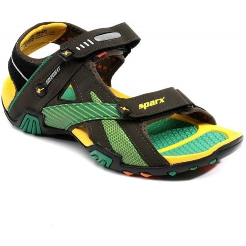 182bbd5a3e0aca Buy Sparx Yellow And Green Men Sandals online