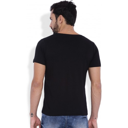 Rodid Solid Men's Round Neck Black T-Shirt