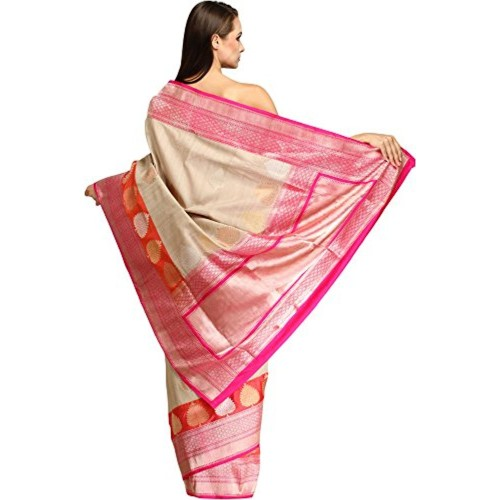 Exotic India Pure Silk - Weaver Ansar Ali Saree (Sdi79-Ca_Grey)