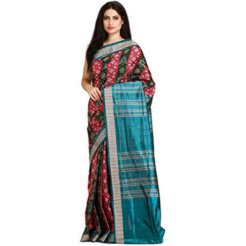Exotic India Pure Silk Saree (Sdi04-Ca_Red)