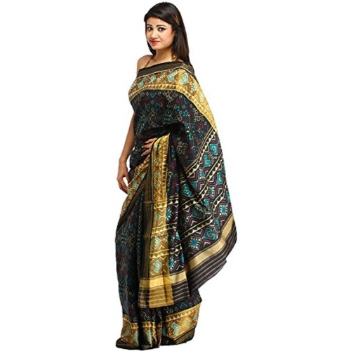 Exotic India Pure Silk Saree (Sdh02-Ca_Black)