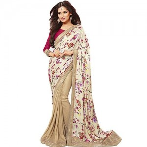 Vishal Shimer Saree (Vs1606_Cream)
