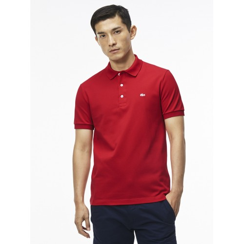 eea12caf3 Buy Lacoste Red Slim Fit Stretch Petit Pique Polo online