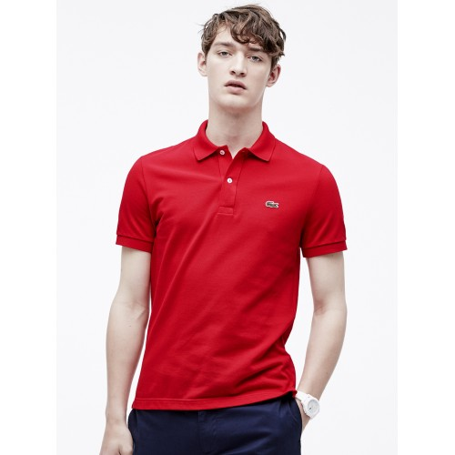 1f617d2ae Buy Lacoste Red Slim Fit Petit Pique Polo online