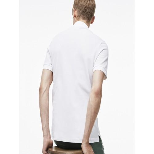 Buy Lacoste White Slim Fit Petit Pique Polo online   Looksgud.in 61baa189335