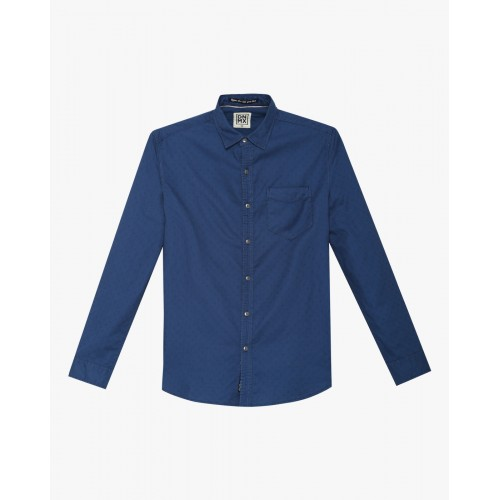 DNMX Cotton Shirt with Curved Hem