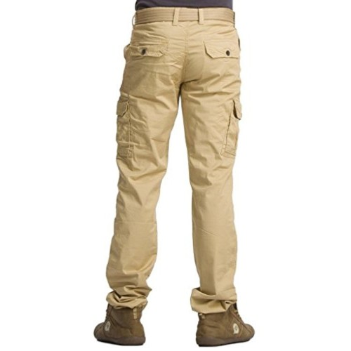 Krystle Khakhi Cotton Regular Fit Cargo Pants