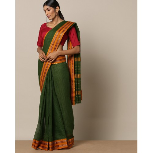 e1c09a8f9eafde Buy Indie Picks Handloom Cotton Checked Narayanpet Saree online ...