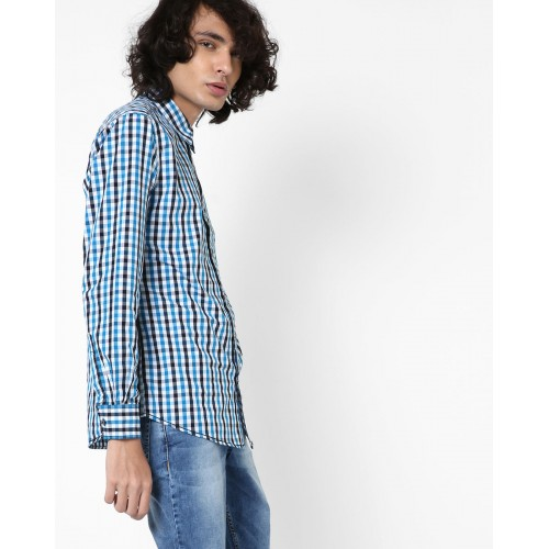 SPYKAR Checked Slim Fit Shirt