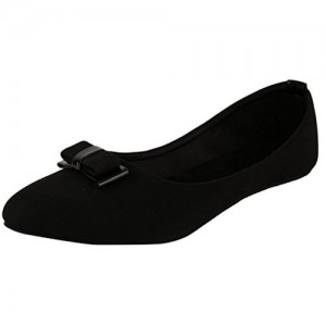 Babes Stunning Pair of Artificial Leather Bow Front Ballet Bellies