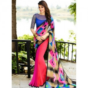 Shaily Multicoloured Printed Saree