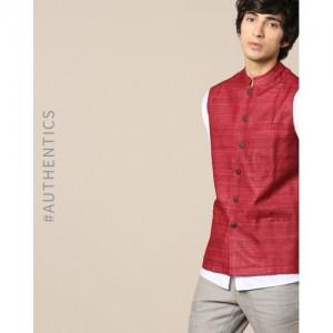 Indie Picks Pure Silk Ghicha Nehru Jacket