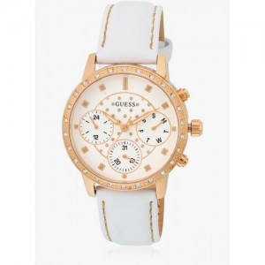 Guess Sunny W0957l1 White/White Multi Function Analog Watch