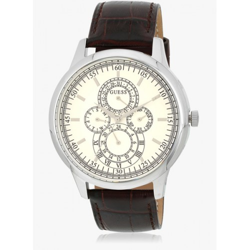 Buy Guess Bryant W0920g2 Brown Beige Multi Function Analog Watch ... a1d1cbf012b