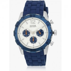 Guess Caliber W0864g6 Blue/Silver Chronograph Watch