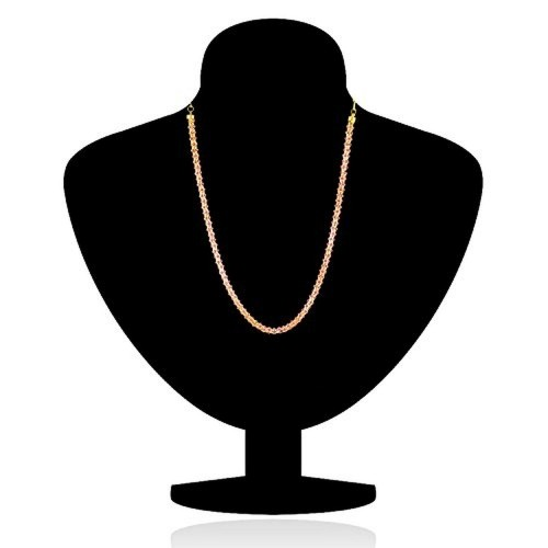 Donna Traditional Ethnic Light Pink Crystal Beauty Gold Plated Chain