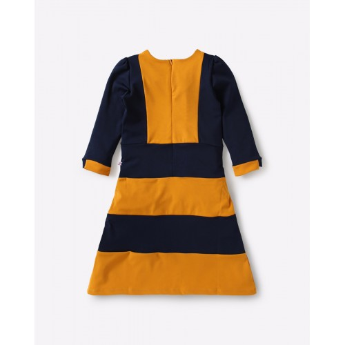 Peppermint yellow Cotton Colourblock A-line Dress