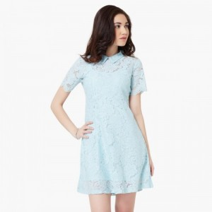 GINGER Lacy Shirt Collar Dress