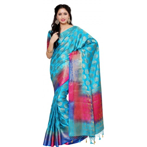 760f46ca99b Buy Mimosa Woven Kanjivaram Art Silk Saree online