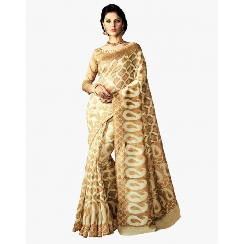 3777fe62aa Buy Paroma Art Woven Bollywood Poly Silk Saree online | Looksgud.in