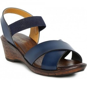 Catwalk  Casual  BLUE Leather  Heels