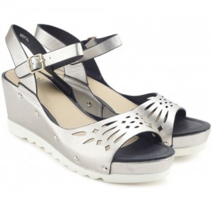Carlton London  SILVER Casual Synthetic sandals