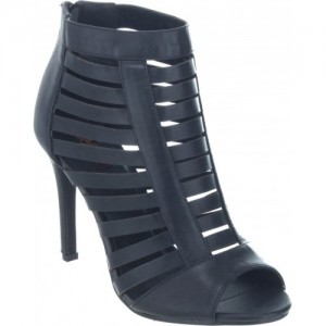 Shuz Touch Formal 4.5 Inch BLACK Heels Sandals.