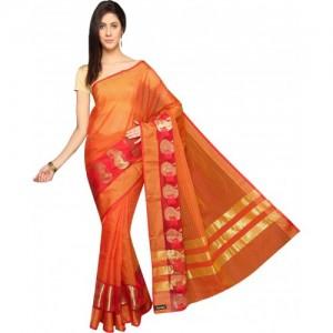 Pavechas Printed Banarasi Kota Cotton Saree