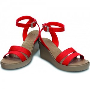 Crocs red Casual 3.25 inchs Wedges Sandals