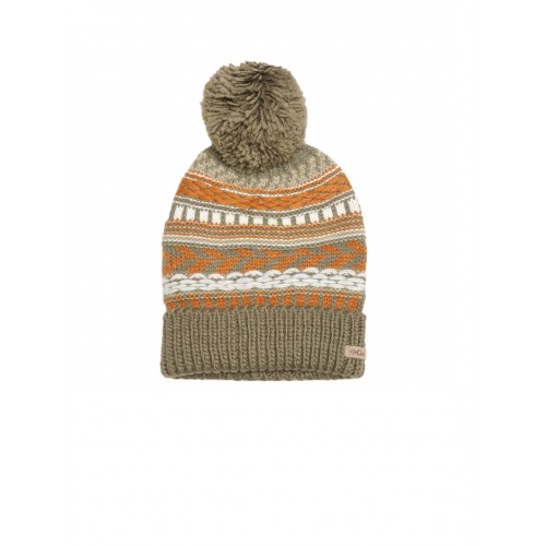 927b15e468572 ... Columbia Unisex Olive Green   Rust Orange Stay Frosty Patterned Beanie  ...