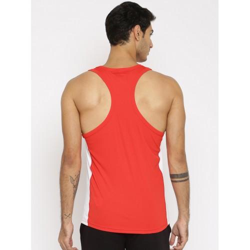 moins cher d4738 81d6d Buy Puma Men Red Cross the Line Singlet T-shirt online ...