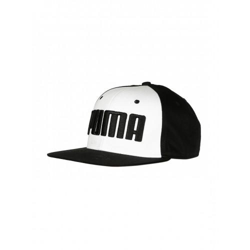 d6cd2380209 Buy Puma Unisex White   Black ESS Flatbrim Printed Cap online ...