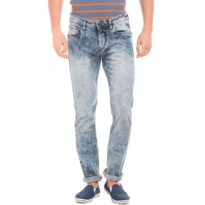 Flying Machine Acid Washed Slim Tapered Fit Jeans