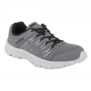 Lotto Grey Synthetic Lace Up Running Shoes