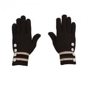 Tiekart  black woollen gloves