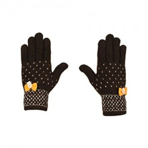 Tiekart  brown woollen gloves