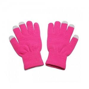 Pink Unisex Full Finger Winter Gloves