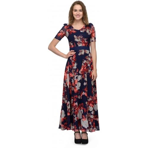 116c378545 Buy Just Wow Women Maxi Blue Dress online