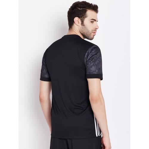 906613ab4 Buy Adidas Men Black Manchester United FC Printed Round Neck Jersey ...