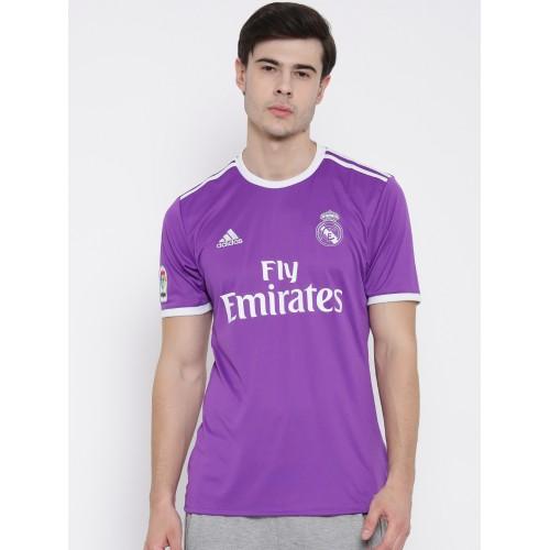Buy Adidas Men Purple Real Madrid F.C. Printed Round Neck Jersey ...