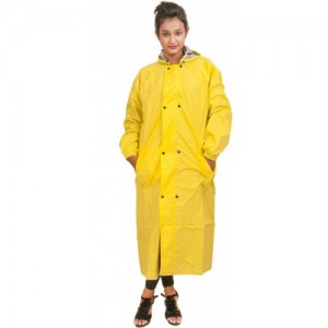 New Era Yellow Cotton Reversible Solid Raincoat