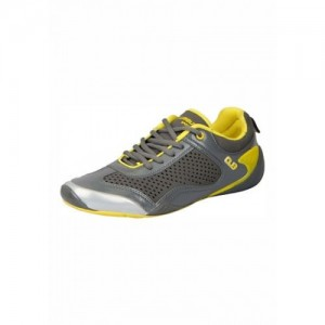 Columbus  Grey Yellow Sports  Running Shoes