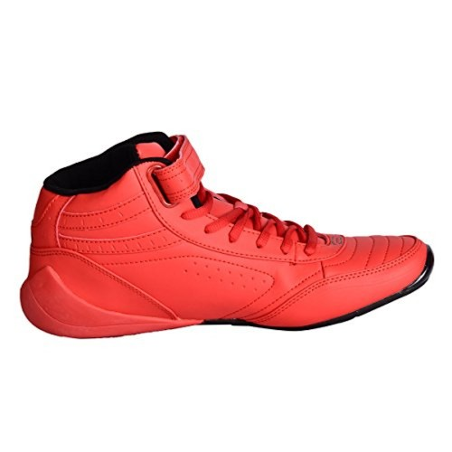 Buy Columbus Red Synthetic Lace Up